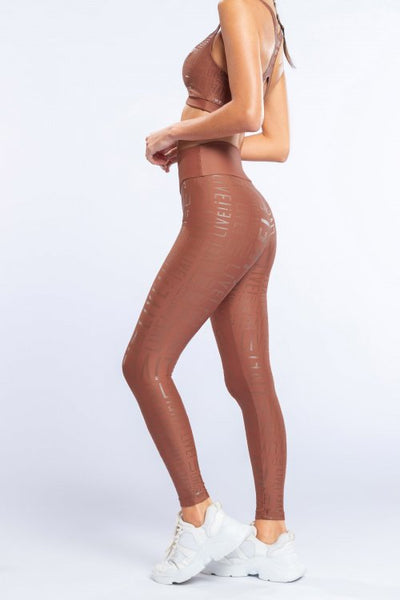 Live! Essential Legging-Rust
