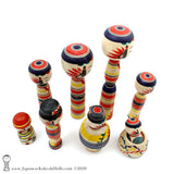 Kokeshi. NEW! Large Family of Traditional Kokeshi Dolls by Toshio Takada.