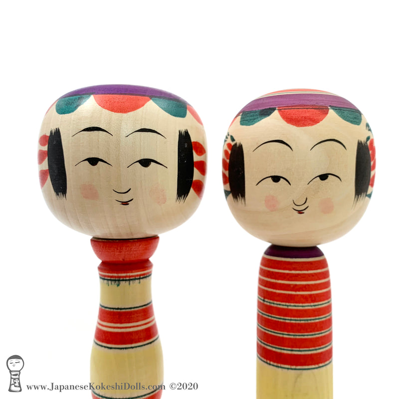 ADORBS! Brand New Traditional Kokeshi by Takashi Kamata. Dento Kokeshi.