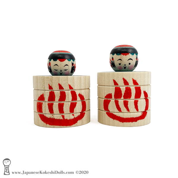Kokeshi. Bathtub Kokeshi Dolls. RARE Traditional Kokeshi Dolls by Toshio Takada. CUTE!