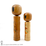 One-of-a-kind! Kokeshi Dolls. Pair of Modern Creative Kokeshi by Isao Sasaki.