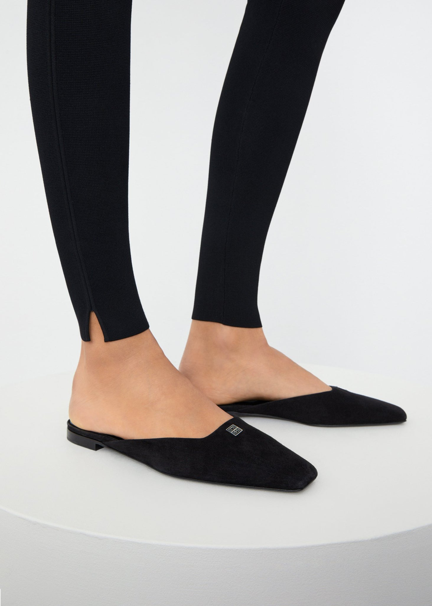 The Flat Mule suede