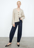 Lambswool knit cardigan creme