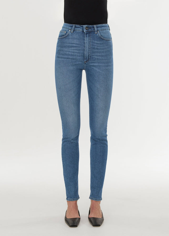 Skinny fit denim mid blue wash