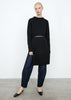 Merino slit knit black