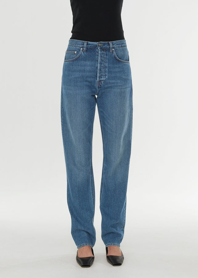 Loose fit denim washed blue