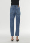 Twisted seam denim washed blue