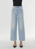 Flare fit denim light blue wash