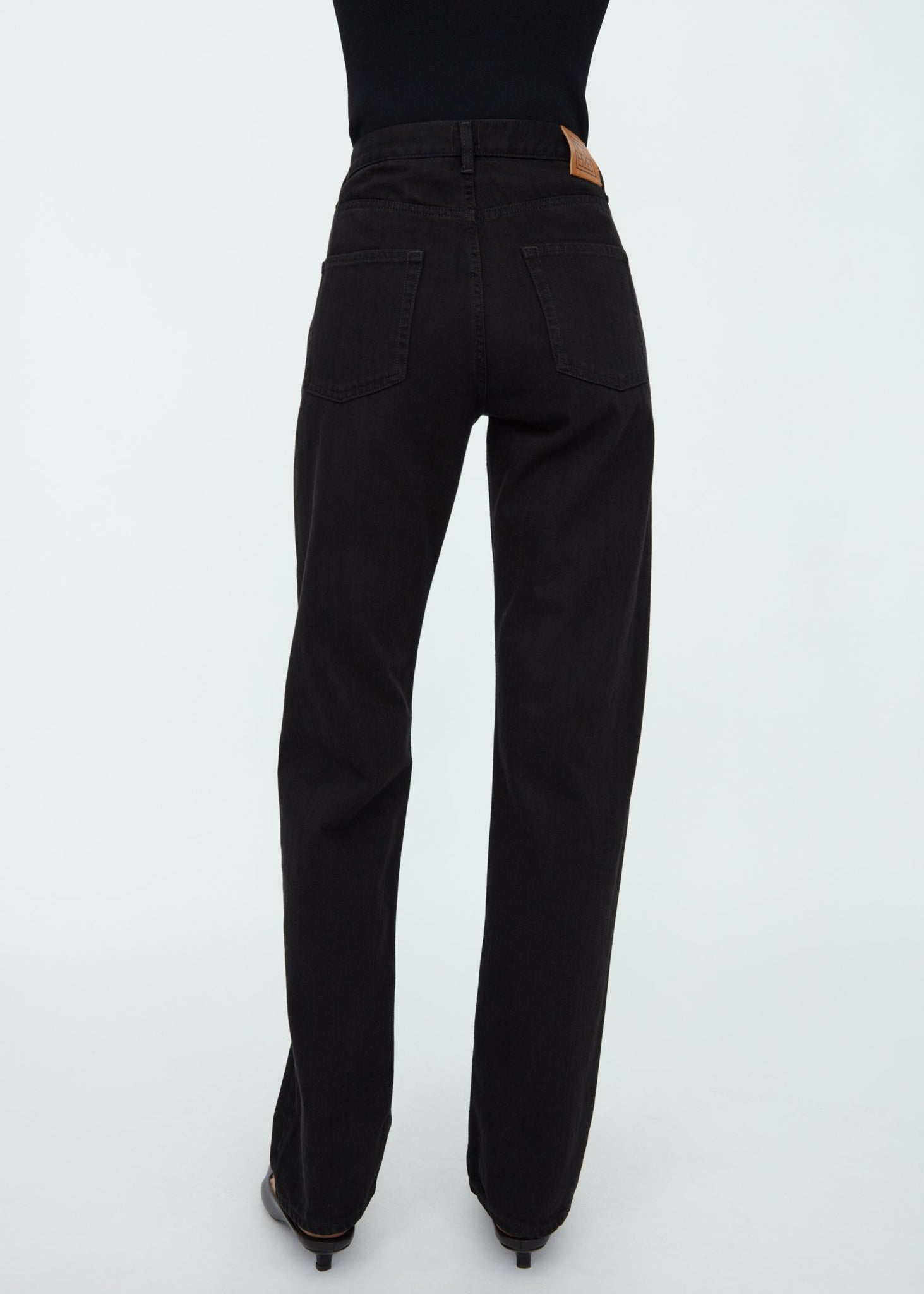 Loose fit denim black rinse