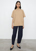 Oversized cotton tee beige
