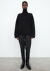 Wool cashmere turtleneck black