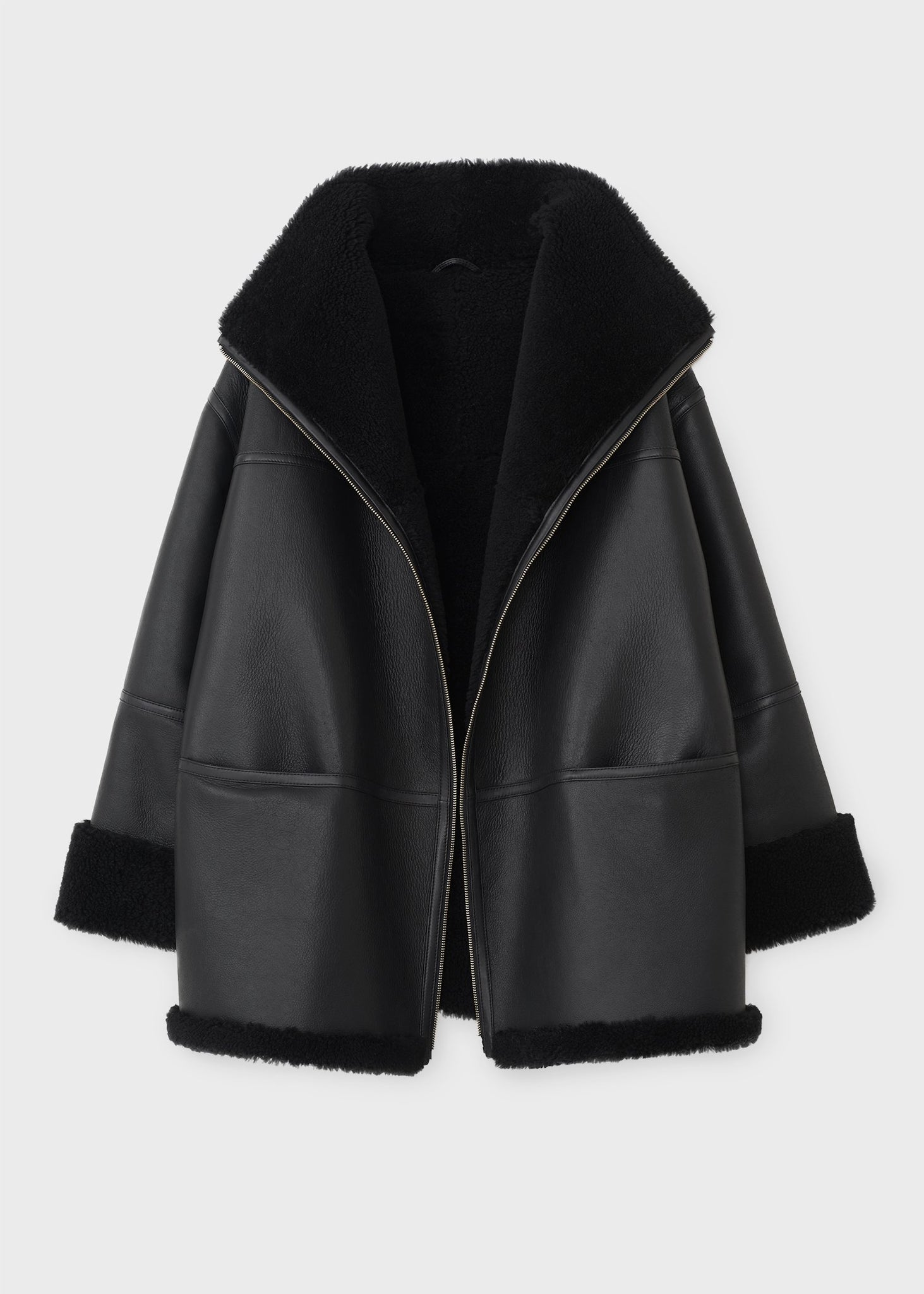 Menfi shearling jacket black
