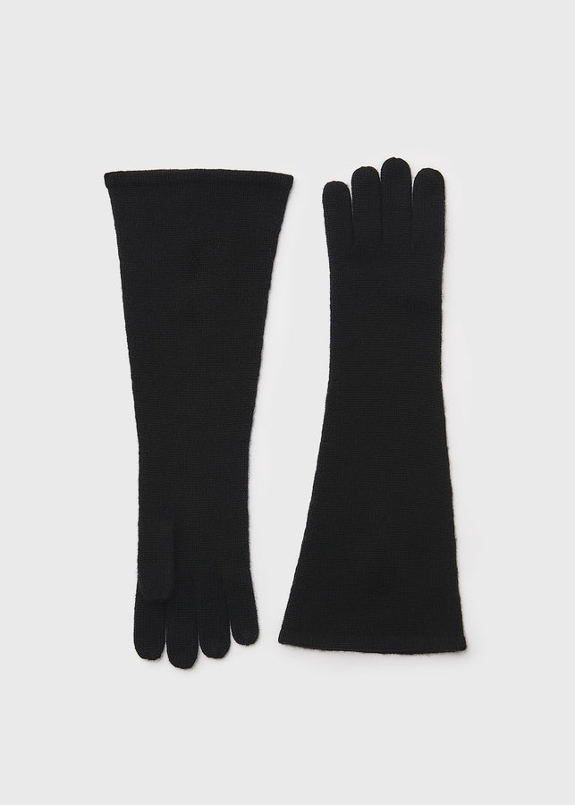 Cashmere gloves black