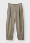 Wool flannel trousers beige