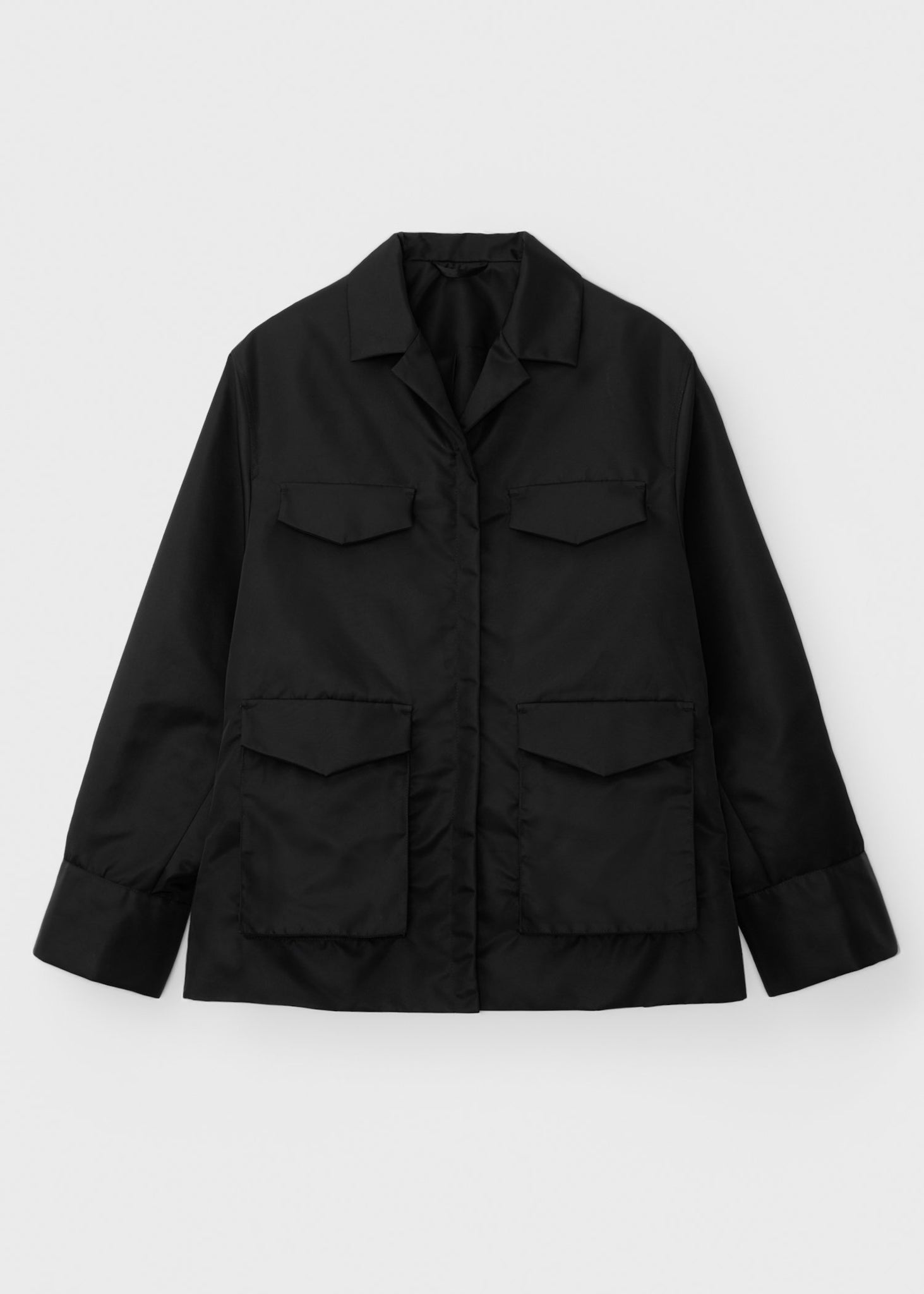 Belted army jacket black