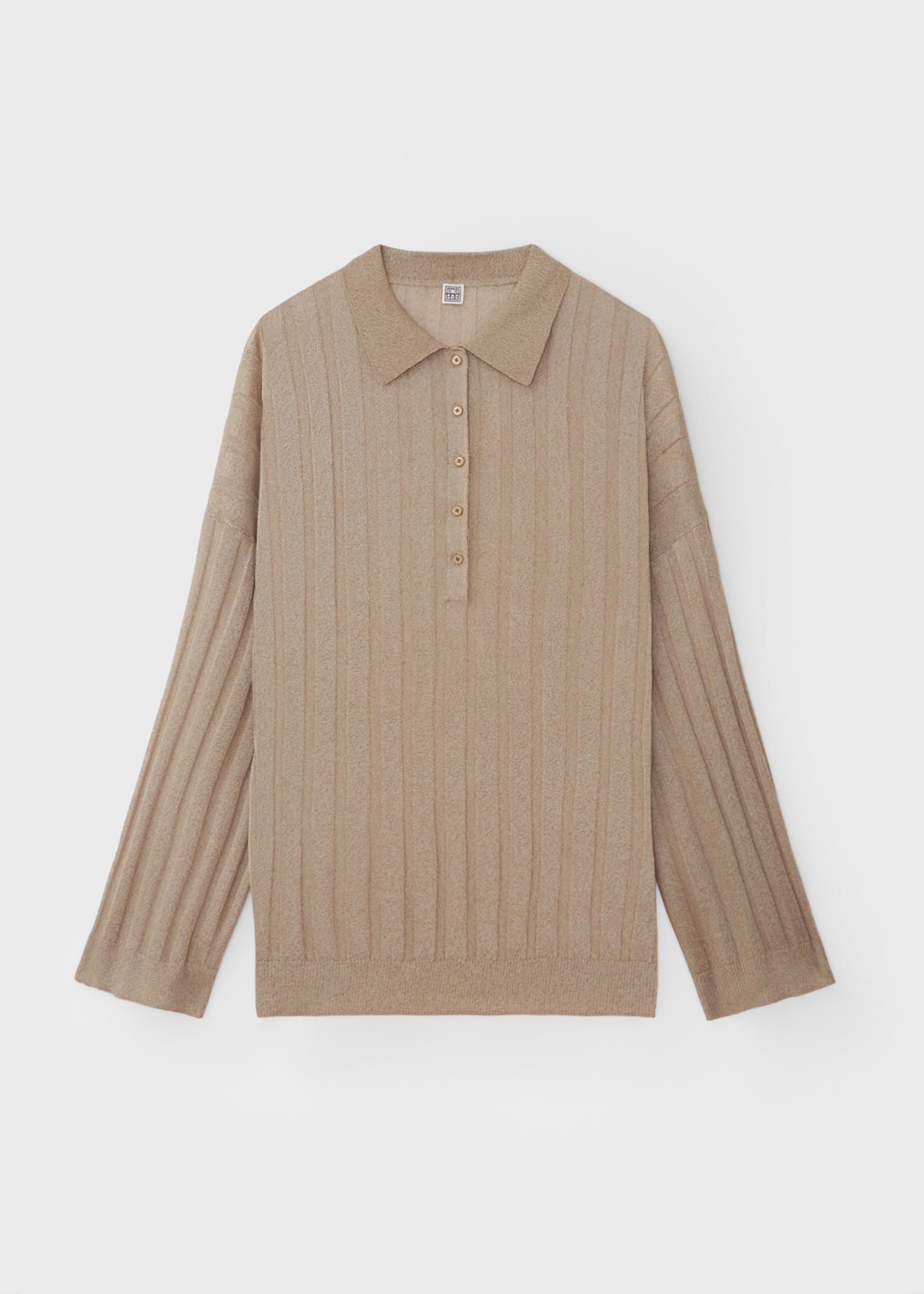 Polo shirt knit champagne