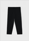 Cropped compact leggings black
