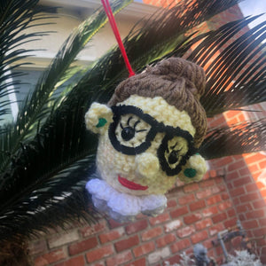 Ruth Bader Ginsburg Crochet Christmas Ornament