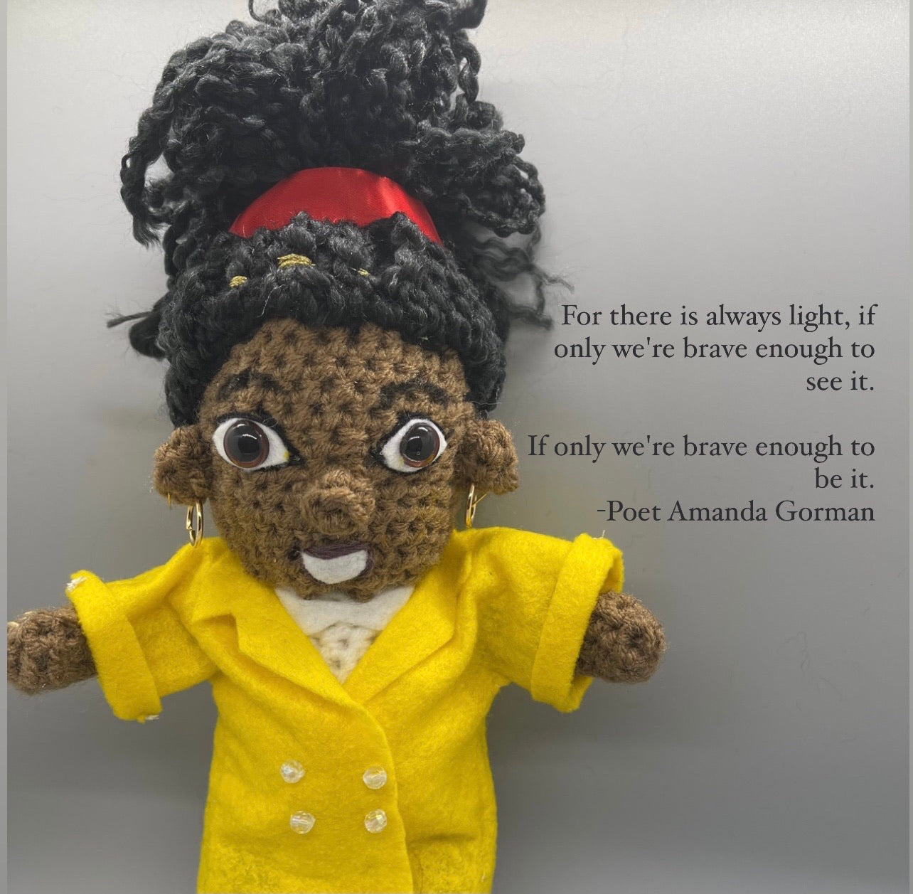 Amanda Gorman Crochet Doll