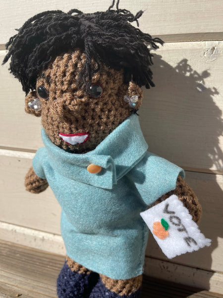 Stacey Abrams Crochet Doll