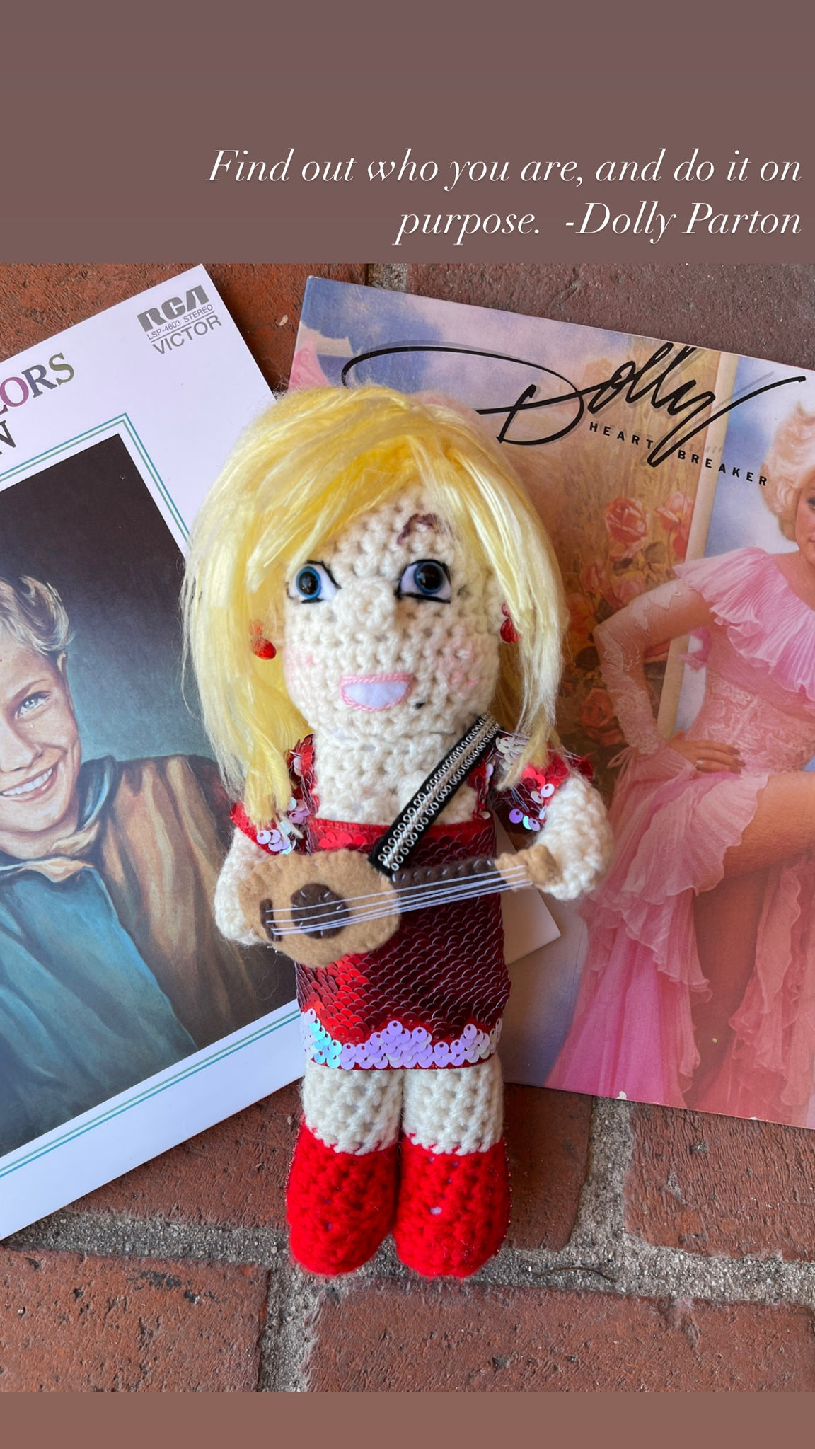 Dolly Parton Crochet Doll