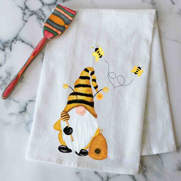 Beekeeper Gnome kitchen towel