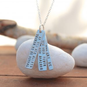 Maya Angelou Quote Necklace