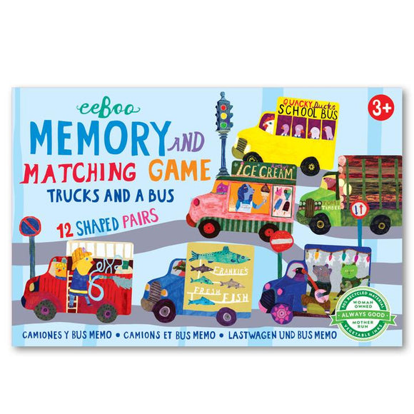 Trucks and a Bus Little Memory and Matching Game