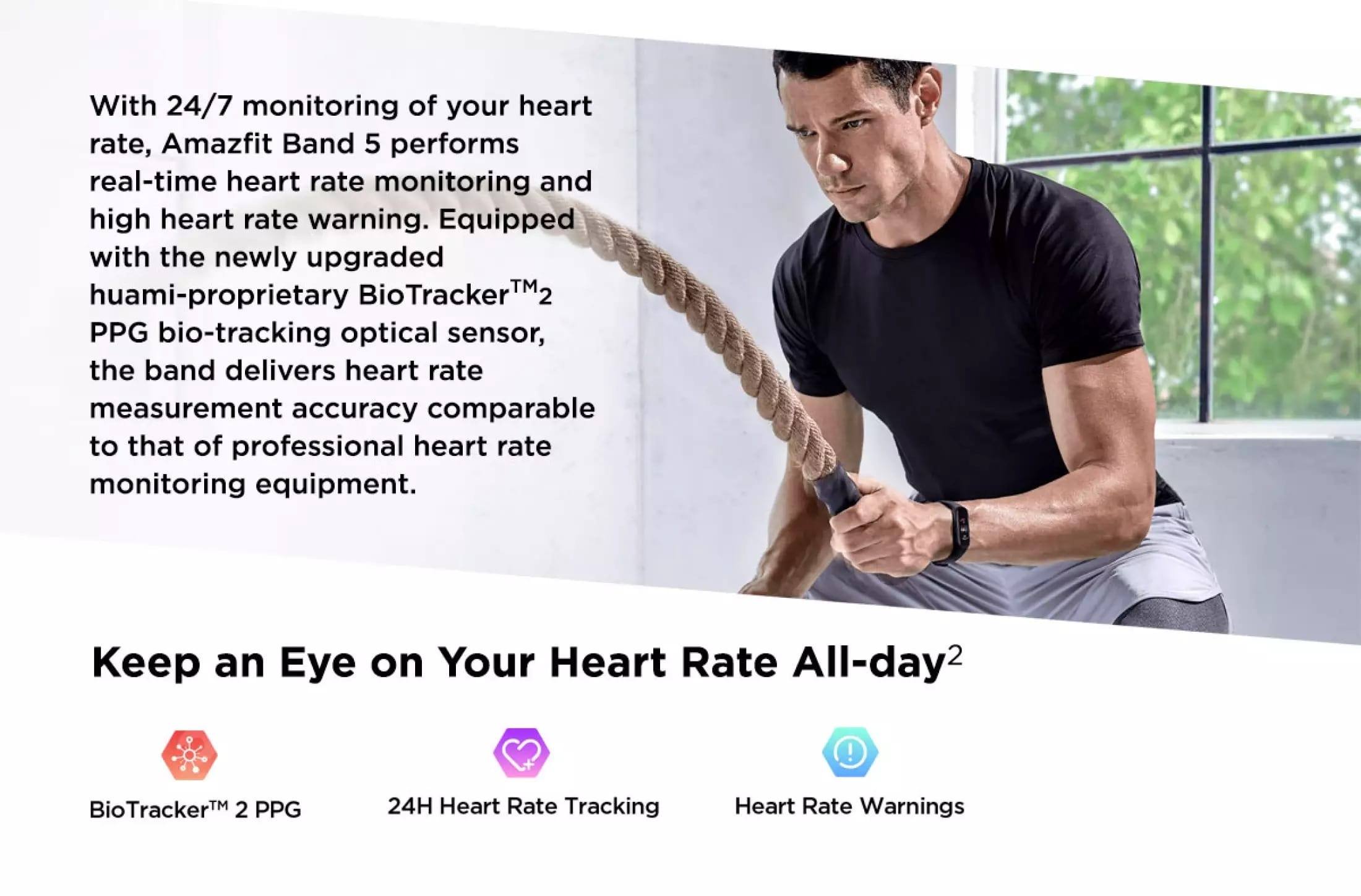 Amazfit Band 5 Keeps Your Hear Rate