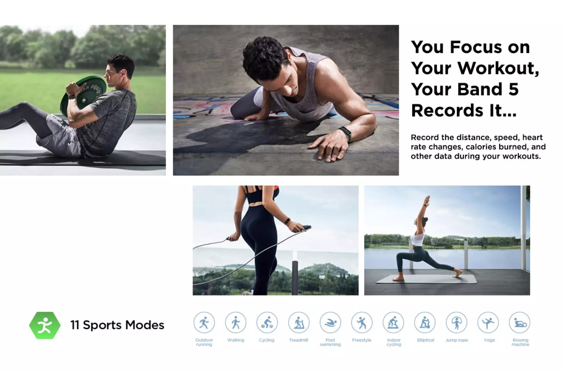 Amazfit Band 5 Records Your Workout