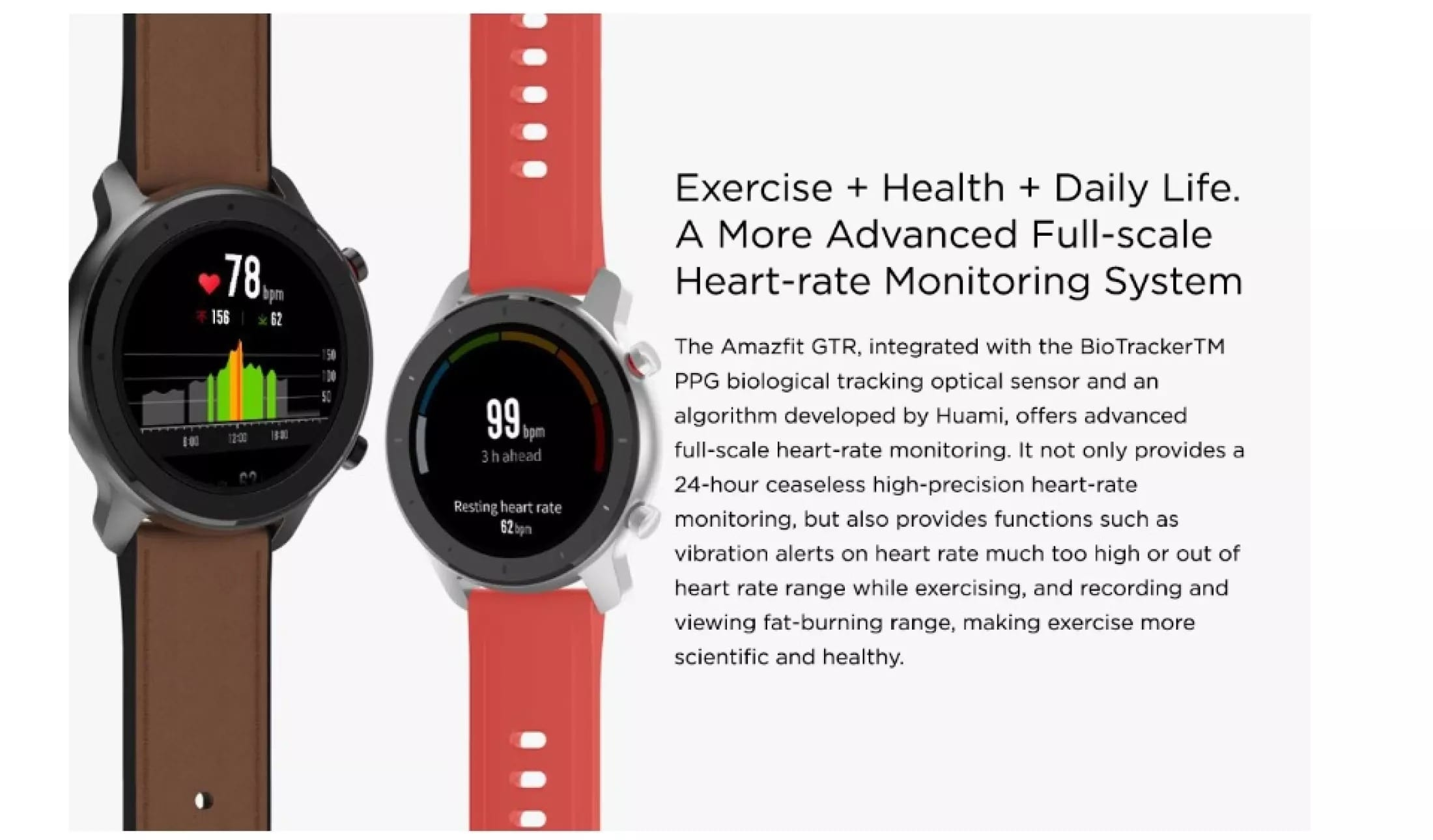Amazfit GTR 47MM Heart Rate Monitoring