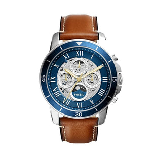 Fossil ME3140 Grant Sport Automatic Luggage Leather Gents Watch - Watch Empires