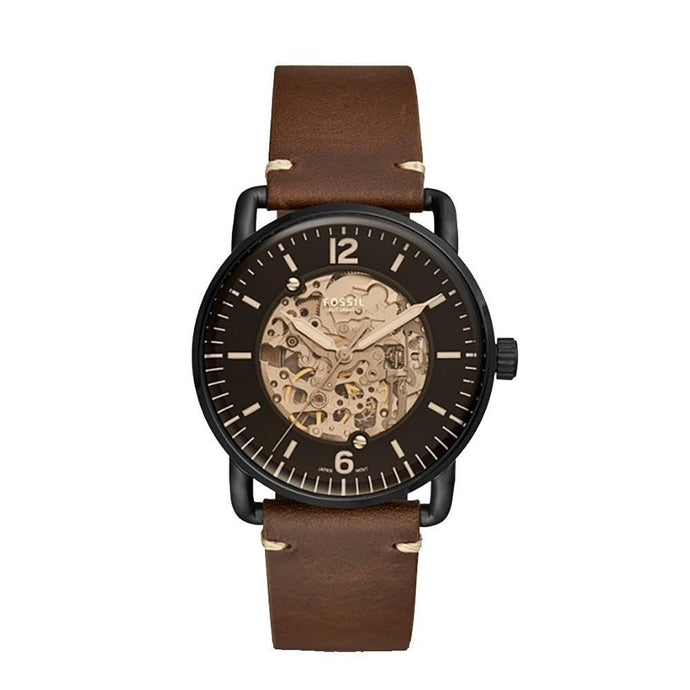 Fossil ME3158 Commuter Automatic Brown Leather Gents Watch