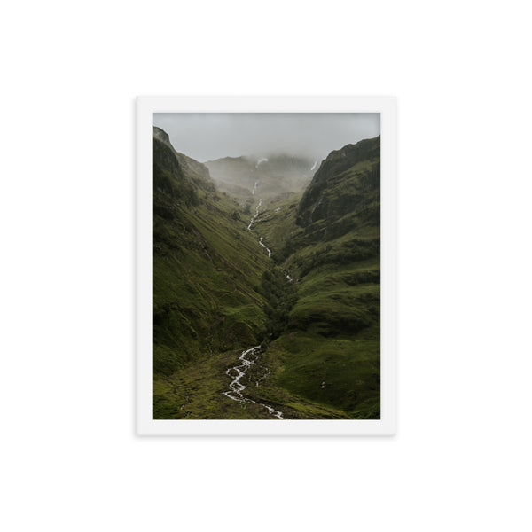 Framed Valley Stream Poster