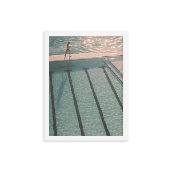 Framed Pool Poster