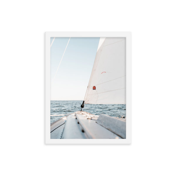 Framed Sailing Poster
