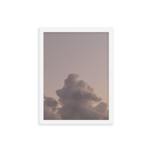 Framed Pink Cloud Poster
