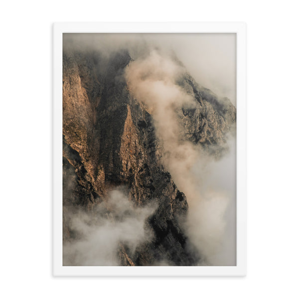 Framed Mountain Clouds Poster