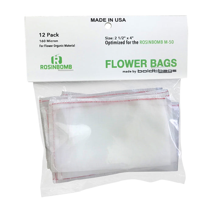 Rosinbomb M50 Flower Bag Front Netherlands