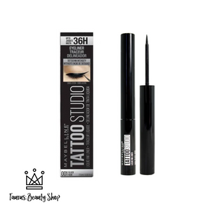 TattooStudio Liquid Ink Eyeliner is Maybelline's first semi-permanent liquid eyeliner. This high-impact eyeliner delivers precise definition and lasts up to 36 hours – a must-have to create the winged look or the perfect cat eye. Easily remove your semi-permanent eyeliner with no hassle, no mess, and no raccoon eyes.