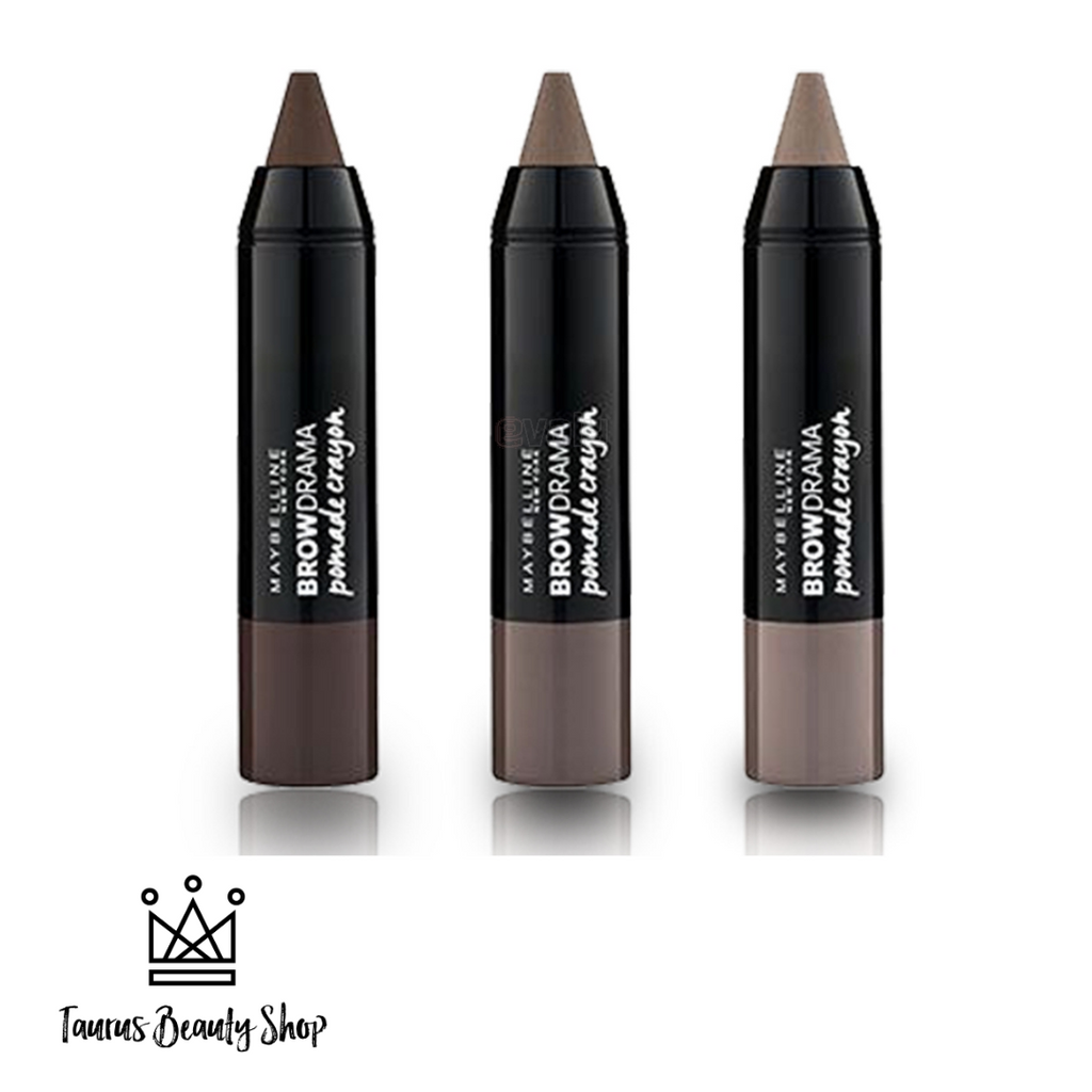 Maybelline Brow Drama Pomade Crayon is a pencil crayon that helps you sculpt and color your brows and get flawless results. The pomade-like formula tames unruly brow hairs and sculpts them to shape. The color blends effortlessly and looks natural!  Eyebrow pencil crayon Pomade formula Colors and sculpts Blends seamlessly