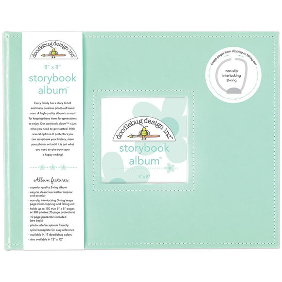 Doodlebug Designs- 8x8 Storybook Album - 15 Colors Available