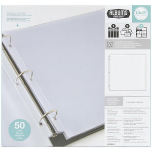 We R Memory Keepers  - 12x12 Ring Photo Sleeves-Full Page-50pk