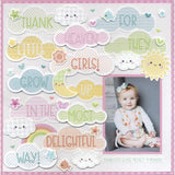 Doodlebug Alpha Stickers - Sunshine - 16 Colors Available