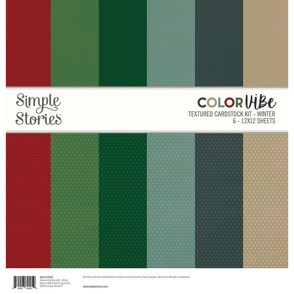 *SALE* Simple Stories - Color Vibe Textured Cardstock - Winter