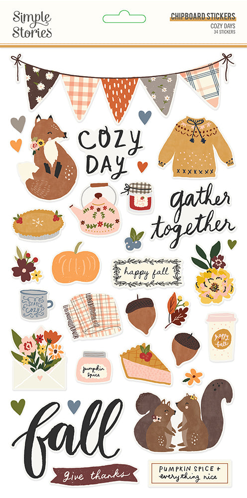 Simple Stories - Cozy Days Chipboard