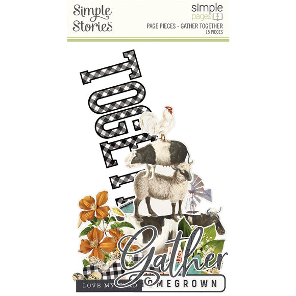 Simple Stories - Page Pieces - Farmhouse Garden-Gather Together