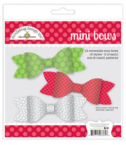Doodlebug Night Before Christmas - Mini Bows Paper Craft Kit