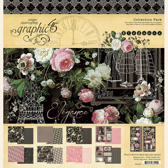 Graphic 45 - Elegance -  12x12 Collection Pack