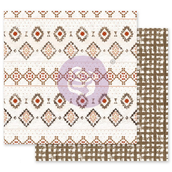Prima Marketing - Golden Desert - Rugs on Rugs -12x12 Cardstock